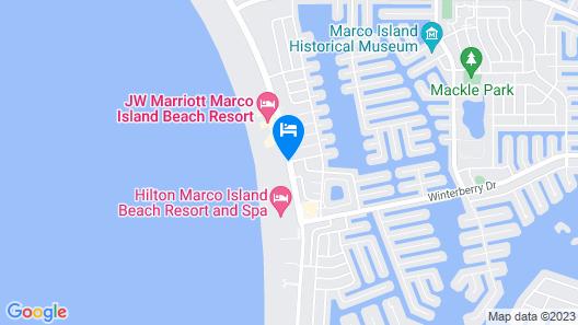 Marco Beach Ocean Resort Map