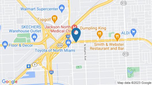 Rodeway Inn Miami I-95 Map