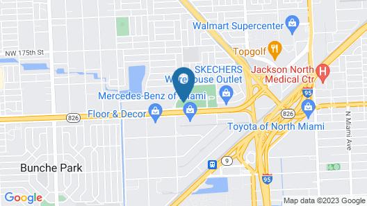 Miami Gardens Inn & Suites Map