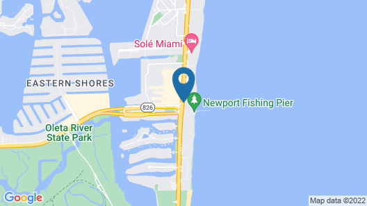 Newport Beachside Hotel & Resort Map