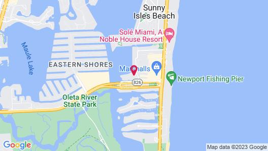 Intracoastal Sunny Isles by SunPearl Map