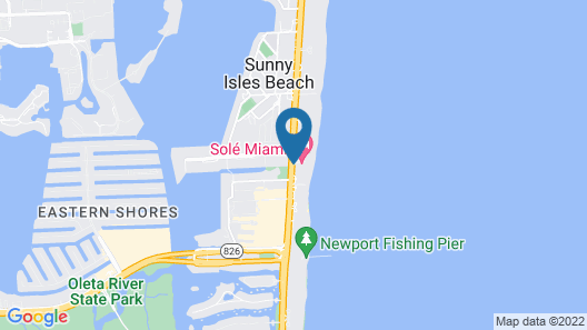Solé Miami, A Noble House Resort Map