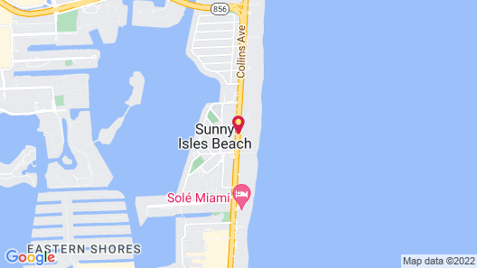 Private Ocean Condos at Trump Sunny Isles Map