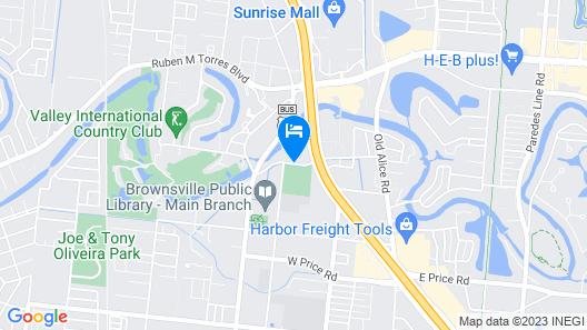 WoodSpring Suites Brownsville Map