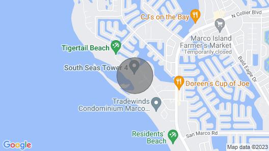 Marco Island Beach Condo 304 - T4, 2 Bd 2ba, Ocean, Pool & Beach Views - Balcony Map