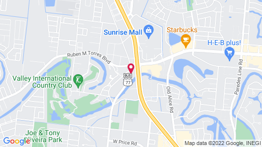 Motel 6 Brownsville, TX Map