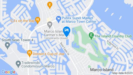 Marco Island Lakeside Inn Map