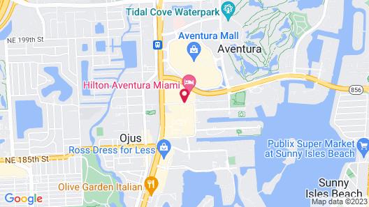 Courtyard by Marriott Aventura Mall Map