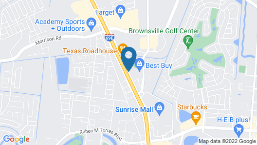 Hampton Inn & Suites Brownsville Map