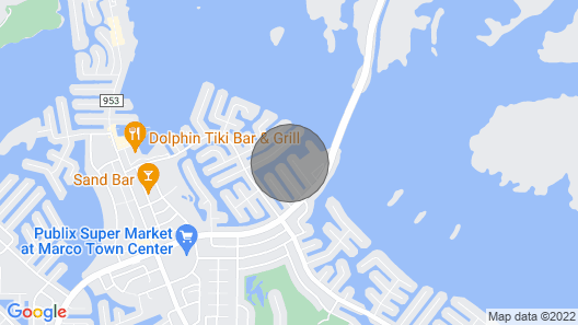 Boater's getaway w/ direct access to the Gulf of Mexico & hot tub Map