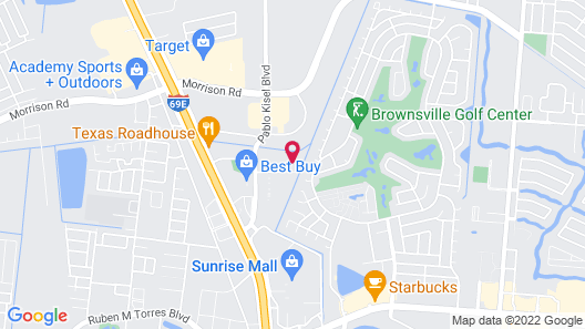 Staybridge Suites Brownsville, an IHG Hotel Map