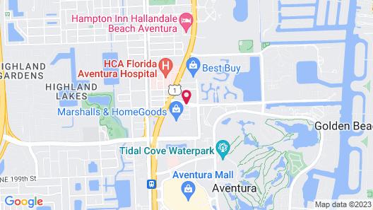 Aloft Miami Aventura Map