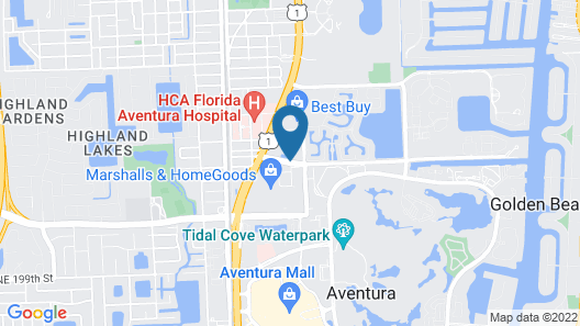 AC Hotel by Marriott Miami Aventura Map