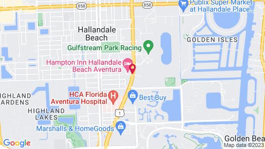 Hampton Inn by Hilton Hallandale Beach Aventura Map