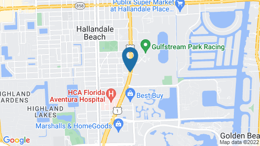 Hampton Inn by Hilton Hallandale Beach Aventura Map