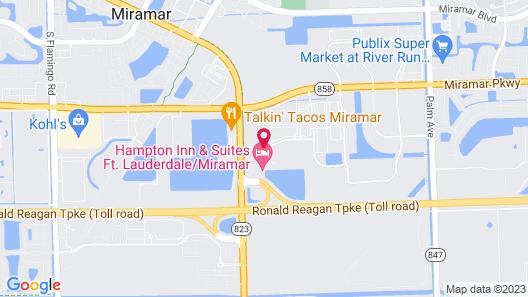 Hampton Inn and Suites Ft. Lauderdale/Miramar-Turnpike Map