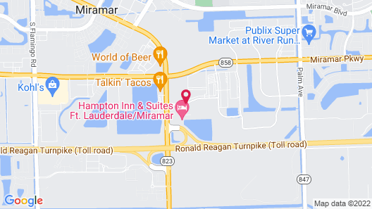 SpringHill Suites by Marriott Fort Lauderdale Miramar Map