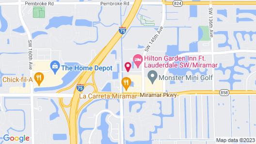 Residence Inn by Marriott Fort Lauderdale SW Miramar Map