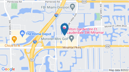 Hilton Garden Inn Ft. Lauderdale SW/Miramar Map