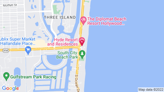 Hyde Beach House Private Suites Map