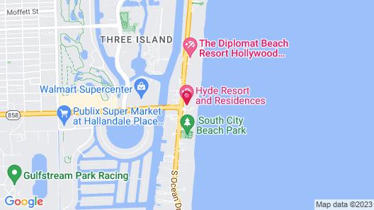 Destination Stays The Hyde Resort Hollywood FL Map