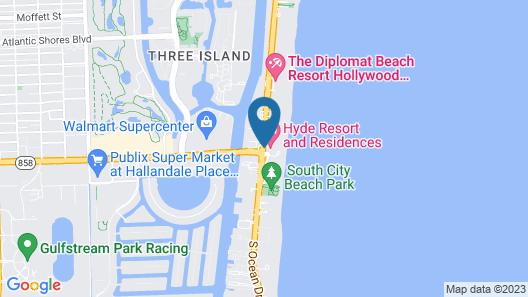 Hyde Beach Resort Rentals Map