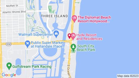 HYDE Beach House Resort Rental Map
