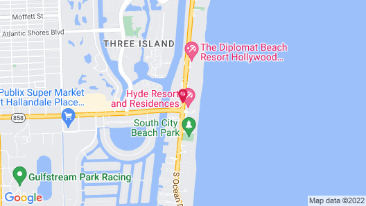 Doubletree Resort by Hilton Hollywood Beach Map