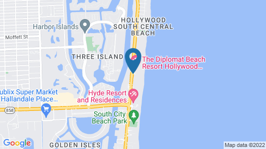 Diplomat Beach Resort Hollywood, Curio Collection by Hilton Map