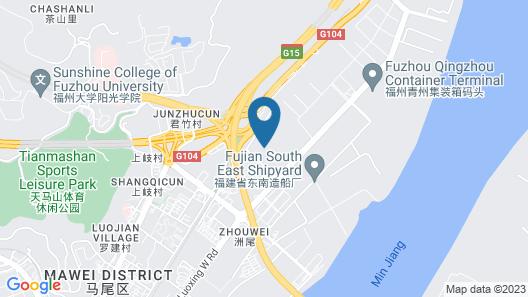 7 Days Inn Fuzhou Mawei Branch Map