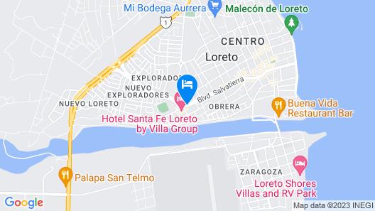 Hacienda Suites Loreto Map