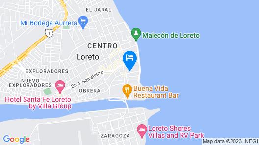 Posada del Cortes Hotel Map