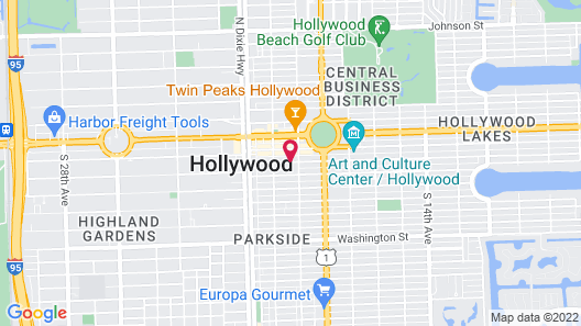 Downtown Hollywood Boutique Hotel Map