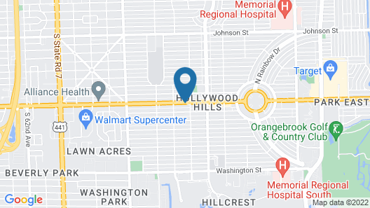 Quality Inn & Suites Hollywood Boulevard Map