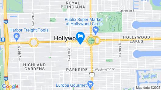 Ramada by Wyndham Hollywood Downtown Map