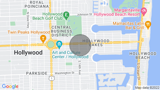 Beautiful Hollywood Beach 4b/r Home W/heated Pool Map