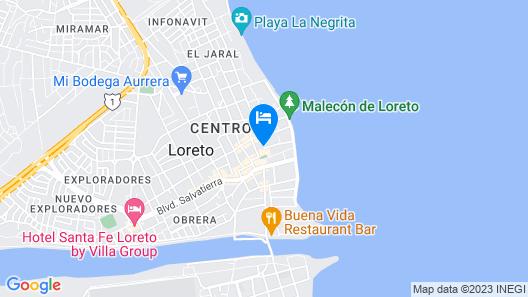 Hotel 1697 Loreto Map