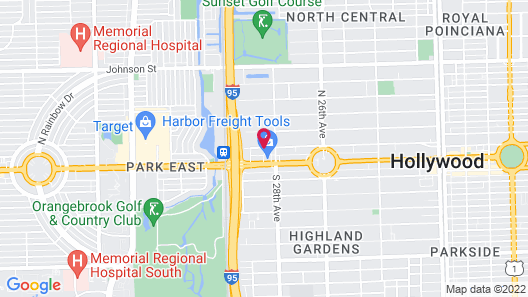 Hollywood Gateway Inn Map