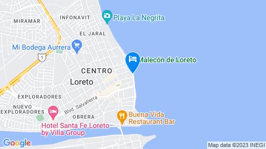 La Mision Loreto Hotel Map