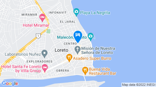 Rosarito Hotel Map