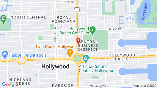 Rodeway Inn near Hollywood Beach Map