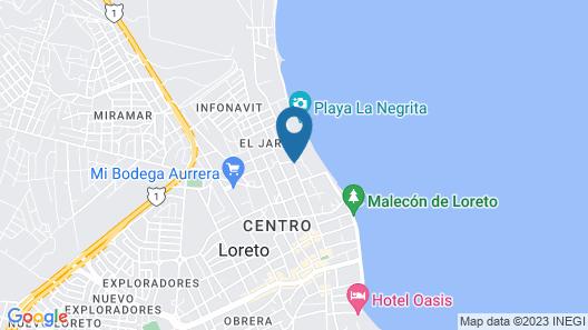Loreto Playa Boutique Hotel Map