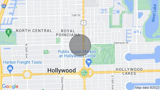 Cute 1 B/R Apt - 10 min Walk to Downtown Hollywood Map