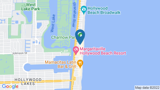 Caribbean Resort by the Ocean Map