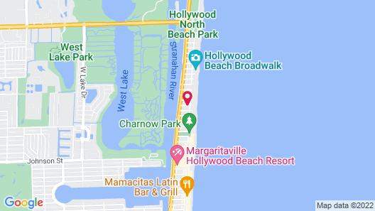 Hollywood by the Sea Hotel Map