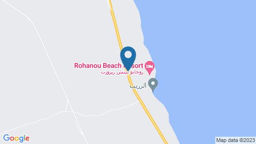 Rohanou Beach Resort and Ecolodge Map