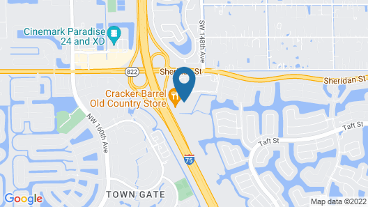 Hampton Inn Ft.Lauderdale-Pembroke Pines/Weston Map
