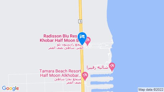 Radisson Blu Resort, Al Khobar Half Moon Bay Map