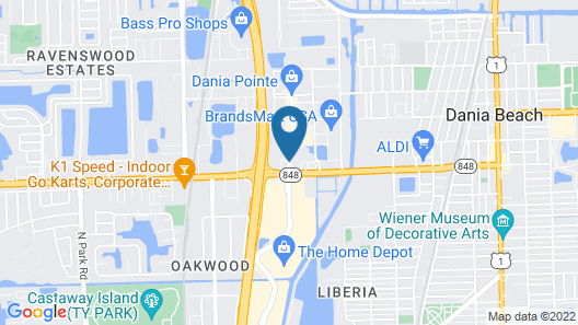 Hilton Garden Inn Fort Lauderdale Airport-Cruise Port Map