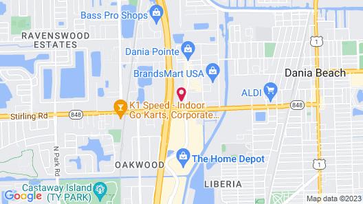SpringHill Suites Marriott Ft Lauderdale Airport/Cruise Port Map